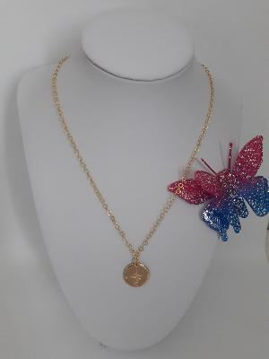 Collier rose des vents